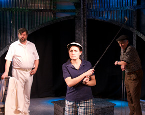 Kevin M. Grubb as Elliot, Shannon Nicole Hill as Rebecca and Larry Garner as Dad