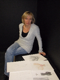Gosia displays costume designs