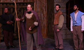 Jovan King as Macbeth and Lana Smithner as Lady Macbeth