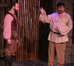 Jeff Harris as Macduff and Kevin Grubb as the Porter